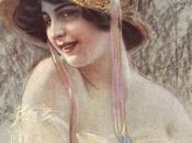 Antiche stampe punto croce: Donna cappello