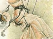 Stampe antiche: Donna sull'altalena