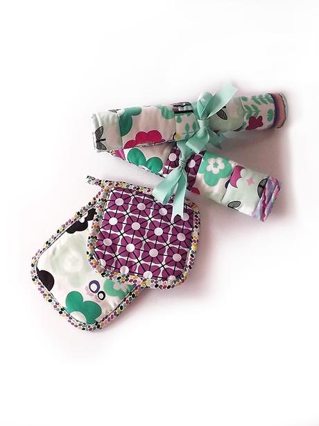 In cucina con creatività: set tovagliette americane e presine in patchwork