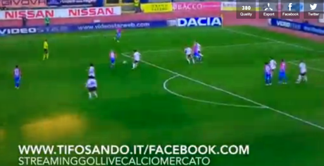 Catania-Frosinone 1-2, video gol highlights