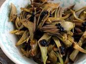 Carciofi saltati all'aglio sale bianco sicilia perle aceto balsamico