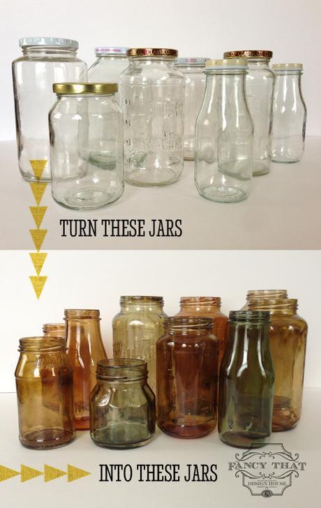 Come tingere i vasetti di vetro