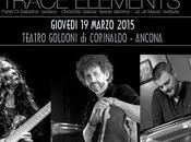 Trace Elements concerto, giovedi' marzo 2015 teatro Goldoni Corinaldo (AN) alle 21.15.