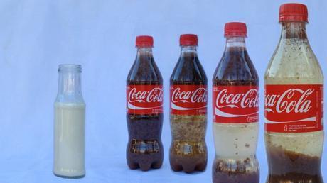 esperimento latte e coca cola