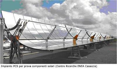 solare termodinamico, pannelli solari, energia solare, energia  pulita, rubbia, concentrazione solare
