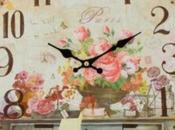 Schema punto croce: Orologio antico parete
