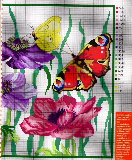 Tante farfalle da ricamare a punto croce paperblog for Farfalle punto a croce