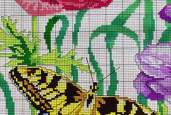 Tante farfalle da ricamare a punto croce paperblog for Farfalle da ricamare