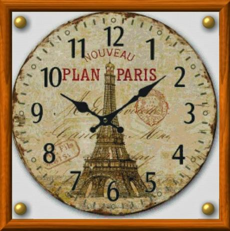 Schemi per il punto croce orologio antico da parete 3 for Orologio punto croce schemi gratis