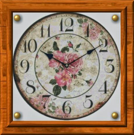 Schema per il punto croce orologio antico da parete 2 for Orologio punto croce schemi gratis