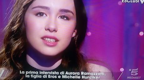 Aurora Ramazzotti a Verissimo