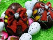 Tortine Cioccolato Nocciole Coniglietti Uova pasquali
