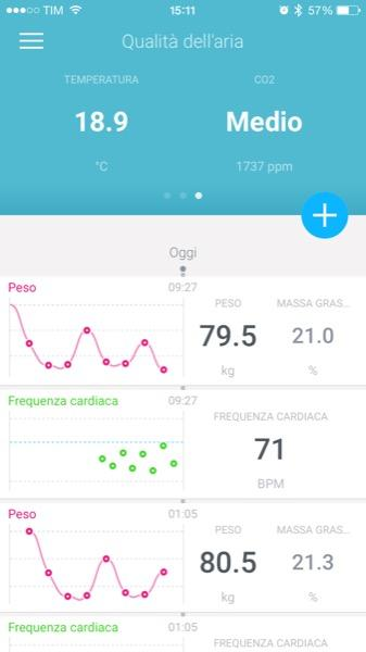 Recensione Withings Smart Body Analyzer Mobimed WS 50 bilancia frequenza cardiaca BMI iOS Android Health Mate 4
