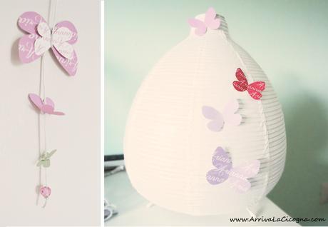 Diy le farfalle color pastello per decorare la cameretta - Decorazioni stanza bimba ...