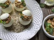 Uova ripiene simpatico antipasto menù Pasqua