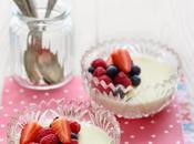 Flan cioccolato bianco frutti bosco (senza uova)