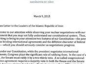 lettera repubblicana all'Iran palese tentativo bloccare negoziati nucleare