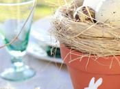 Decorazione Country tavola Pasqua