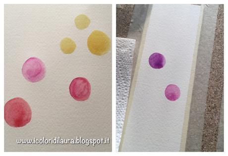 Come realizzare un segnalibro per la festa della mamma con acquerelli e bottoni...tutorial di primavera