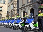 Scooter elettrici polizia Barcellona