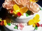 Torta addio nubilato, rose orchidee
