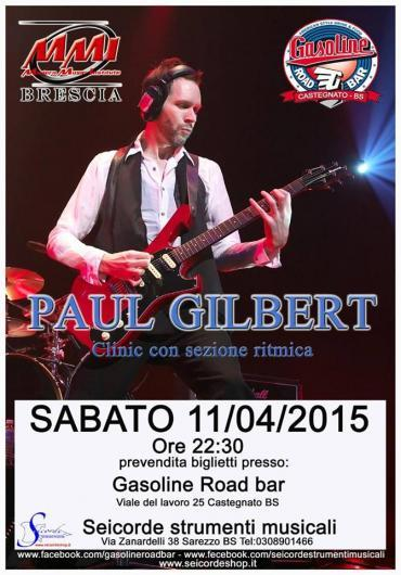 PAUL GILBERT (FROM MR. BIG) LIVE @ GASOLINE ROAD BAR (CASTEGNATO-BS)