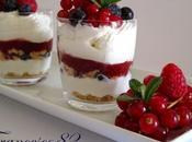Cheesecake scomposta frutti bosco