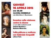 """#Buccinasco: APRILE """"SULLA PITTURA/SCULTURA SULLA PREVENZIONE CONTRO VIOLENZA"""""""