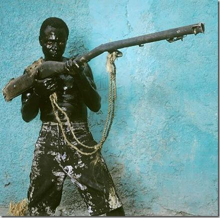 Man with Gun, Jacmel, Haiti, 2004