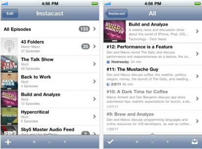 Instacast, ottima applicazione per la gestione dei podcast su iPhone o iPod Touch