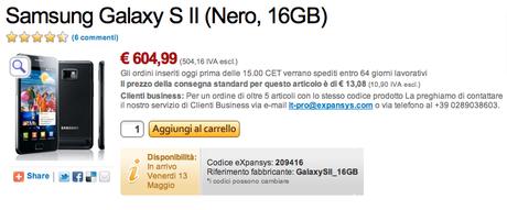 Schermata 2011 03 10 a 14.55.03 1 [Flash News] Expansys anticipa la data di disponibilità del Galaxy S II !