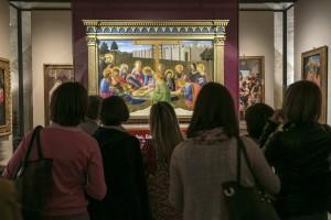 Compianto sul Cristo morto del Beato Angelico esposto al Museo Diocesano di Torino