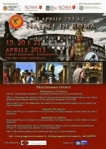 """19-21 aprile """"Natale di Roma"""" 2015"""