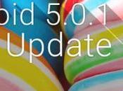 Android 5.0.1 Lollipop rilasciato Samsung Galaxy Note brand