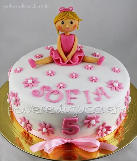 Très Torta decorata per una bimba che sogna di fare la ballerina  IY93