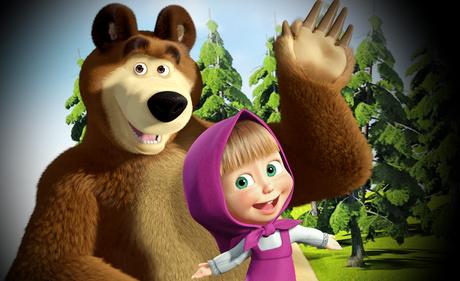 Masha e orso invito di compleanno da stampare paper