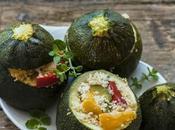 Zucchine ripiene cous verdure,ricetta light vegetariana