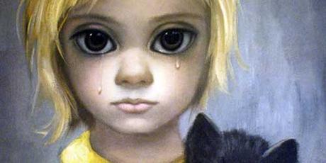 Un dipinto di Margaret Keane raffigurante una bimba che piange