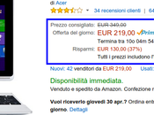 Promozione lampo Amazon: Acer Aspire Switch Convertibile 219,00