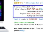Promozione lampo Amazon: Acer Aspire Switch Convertibile 219,00