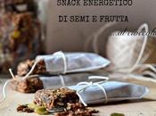 Snack energetico semi frutta cioccolato