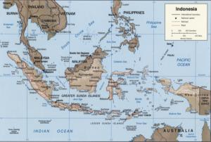 cartina indonesia
