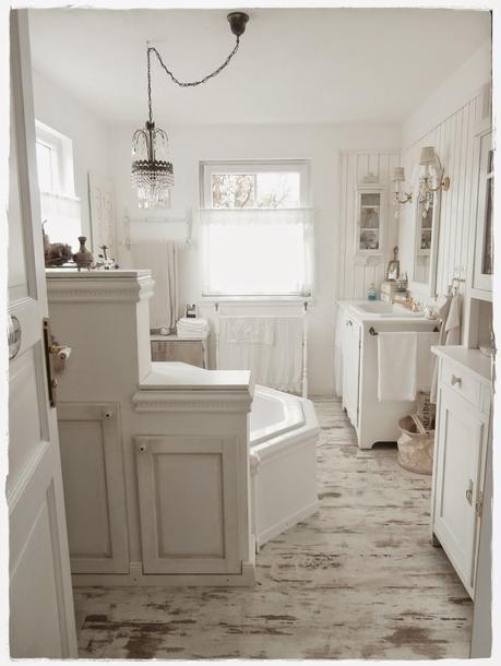 Una favolosa stanza da bagno in stile shabby chic - Paperblog