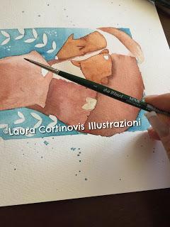 Illustrazione per la festa della mamma...come usare i pastelli morbidi