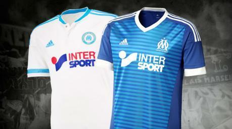 La maglia dell'Olympique Marsiglia 2015-2016 di adidas
