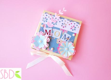 Card Targa festa della mamma - Mother's day Plate card