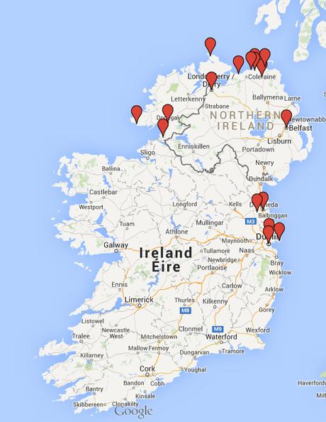 Irlanda Del Nord Cartina.7 Giorni Tra Irlanda E Irlanda Del Nord Itinerario Paperblog