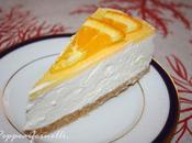 Torta fredda allo yogurt gelatina all'arancia.