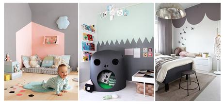 Idee per una cameretta fai da te paperblog for Idee pareti cameretta neonato