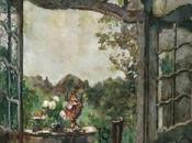 Painting week: Veranda overlooking garden summer